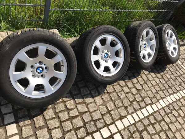 4 originale BMW 5er Alufelgen 7x16 IS20 5x120